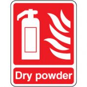 Fire Safety Sign - Fire Dry Powder 024